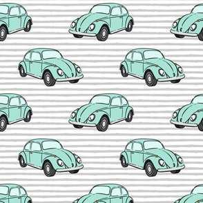 mint bugs- (grey stripe) beetle car