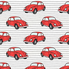 red bugs - (grey stripe) beetle car