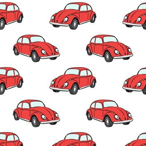 red bugs - beetle car