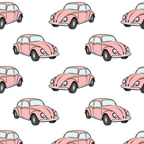 pink bugs - beetle car