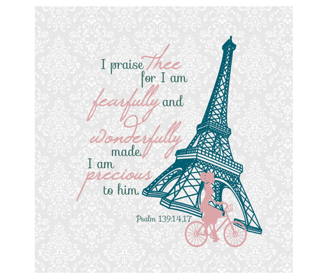 psalm 139 Small Print fabric by my_taylor_made on Spoonflower - custom fabric