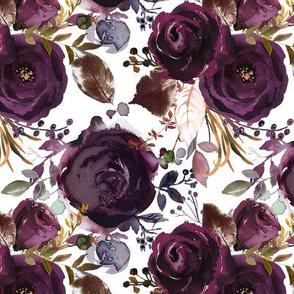 Dark Plum Florals