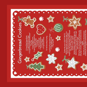 Gingery_Christmas Cookies_Tea Towel