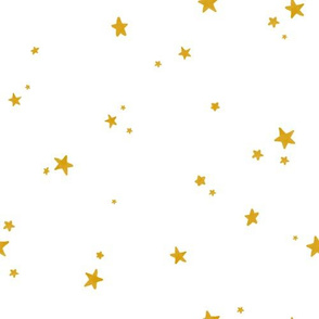 Dreamy Gold Stars on White