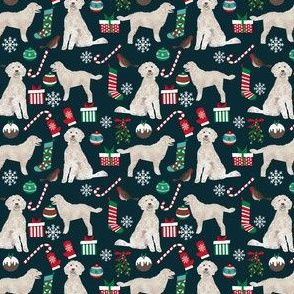 SMALL - golden doodle christmas fabric, golden doodle fabric, dog fabric, dog fabric by the yard, doodle dog fabric,  cute christmas designs best golden doodle fabrics