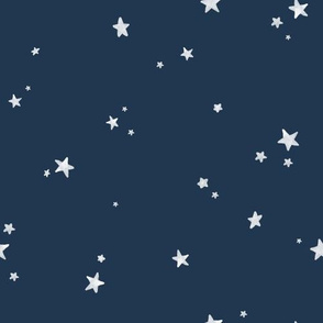 Dreamy Stars on Navy Blue