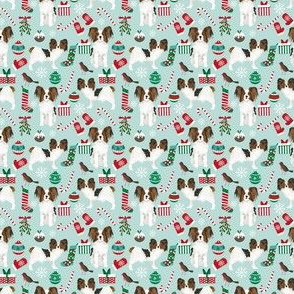 SMALL - papillon dog fabric, papillon christmas dog fabric, dog fabric, dog fabric by  the yard, papillon dog fabric by the yard, christmas dogs cute papillons dogs cute dogs best dog design
