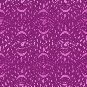 mystic eye fabric, eye design, eye fabric, evil eye fabric, tarot, tarot fabric, mystical - purple