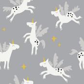 Unicorn on grey
