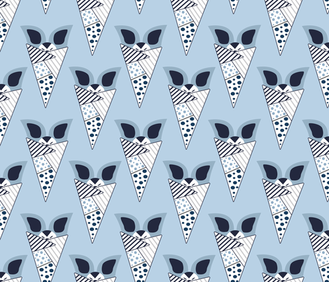 bat behaviour blue 2 fabric by lauranor on Spoonflower - custom fabric