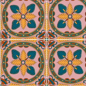 Limited colour palette tile design - Matching Designs A, B, C, D and E In Collection