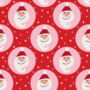 Santa on red and pink