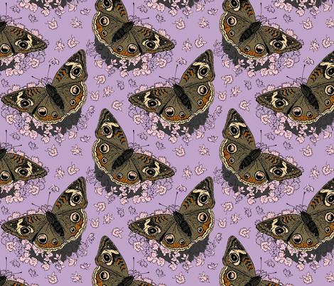 Stonecrop and Buckeye lavender 8x8 fabric by leroyj on Spoonflower - custom fabric