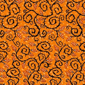 Halloween Spike Plant on Orange