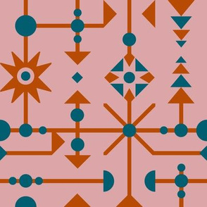 Funky Geometric - Limited Color Palette