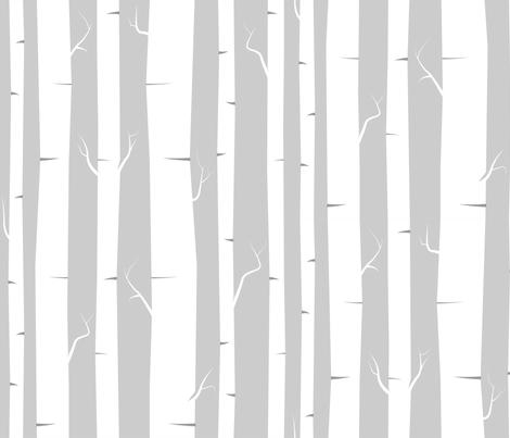 Birches  fabric by ravengill on Spoonflower - custom fabric