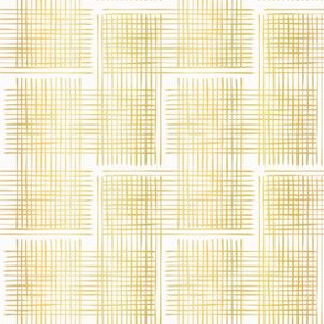 Luxe Gold Criss Cross Weave Hand Drawn Vector Pattern Background