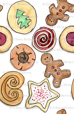 Holiday Cookies with Gingerbread Men