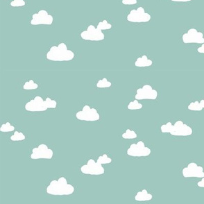 Clouds on Teal