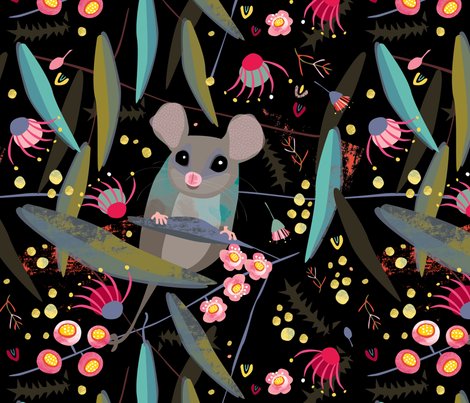 Eastern Pygmy Possum by Mount Vic and Me fabric by mountvicandme on Spoonflower - custom fabric