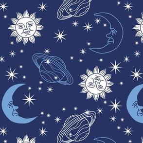 Sun, Moon, & Stars - Navy