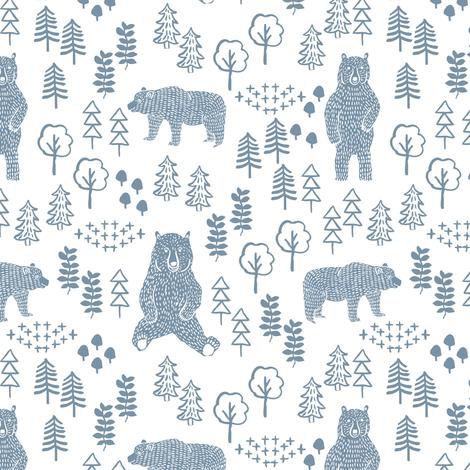 woodland bear fabric, bear wallpaper, nursery wallpaper, cute bear wallpaper, bear design, nursery fabric by the yard, nursery fabric, andrea lauren fabric ...