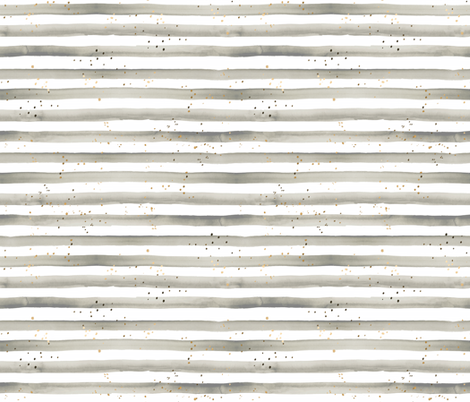 stripe gray gold dots fabric by crystal_walen on Spoonflower - custom fabric