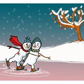 Snowcouple skating