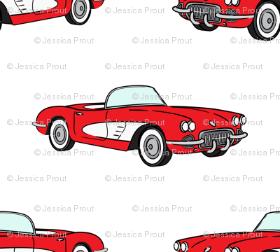 vintage convertible - red