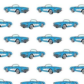 vintage convertible - blue