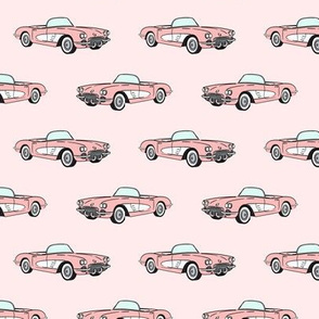 vintage convertible - pink on pink