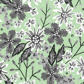 Rustic Floral (Mint)