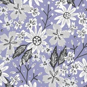 Rustic Floral (Periwinkle)