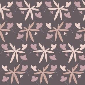 leaves, violet