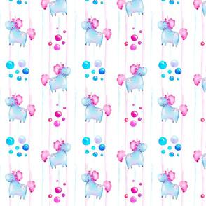 Unicorn candy stripe