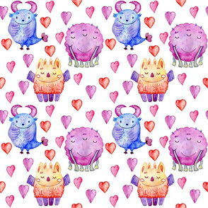 Cute Monsters n Hearts