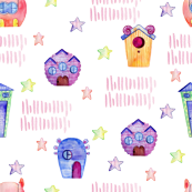 Cute Monster houses