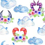 Cute Monster Horn Clouds