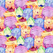 Cute Monster Collage