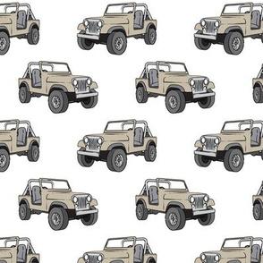 jeeps - tan