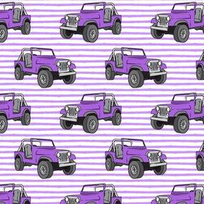 jeep - purple on purple stripes