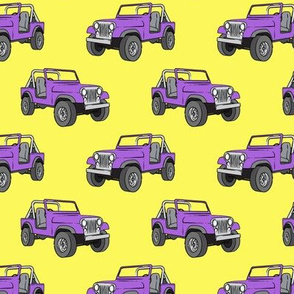 jeep - purple on yellow