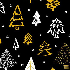 Black forest Christmas trees