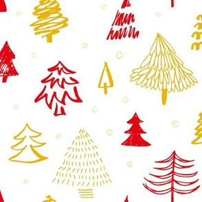 Scandinavian Christmas red and gold