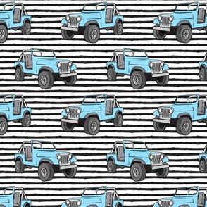 jeeps - blue on stripes