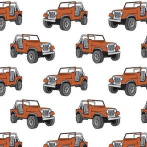 jeep - rust orange