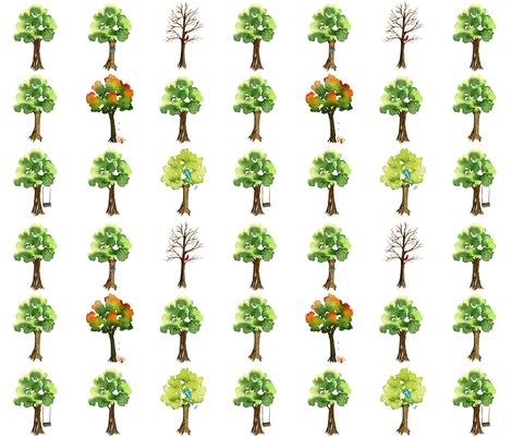 Love For All Seasons fabric by sweetseasonsart on Spoonflower - custom fabric