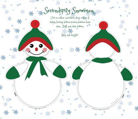 Serendipity Snowman fabric by emmie_norfolk on Spoonflower - custom fabric