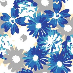 Blue, Grey, & White Flowers