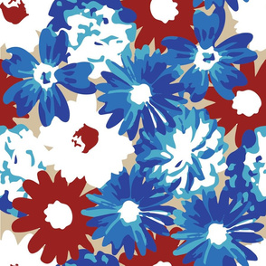 Red, White & Blue Flowers